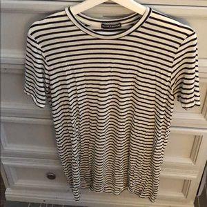 Brandy Melville Black and White T Shirt Dress